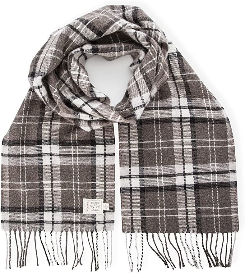 Avoca Merino Wool Scarf -Natural- Made in Ireland