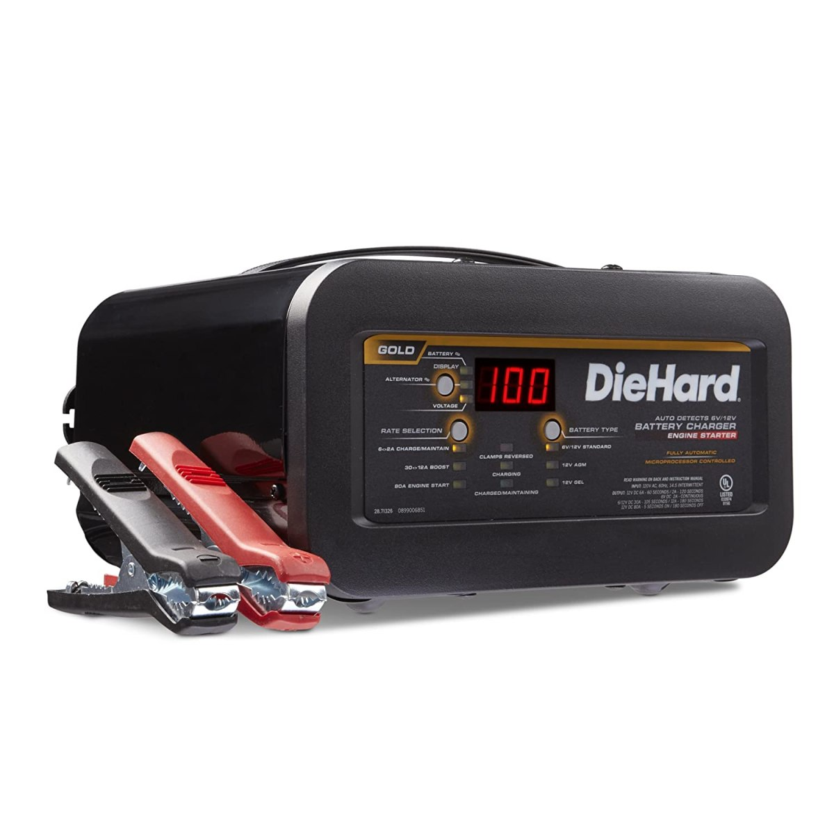 best jump starters DieHard 71326 6/12V Gold Shelf Smart Battery Charger and 12/80A Engine Starter