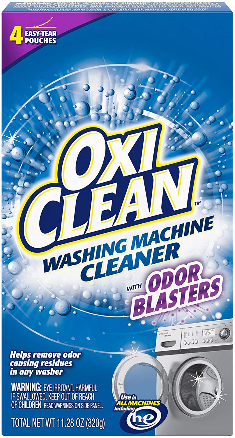 Amazon Com Oxiclean Washing Machine Cleaner With Odor Blasters 4 Count Health Personal Care