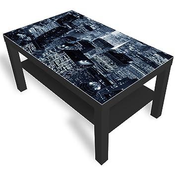 Dekoglas Ikea New York City Table Basse Avec Plateau En