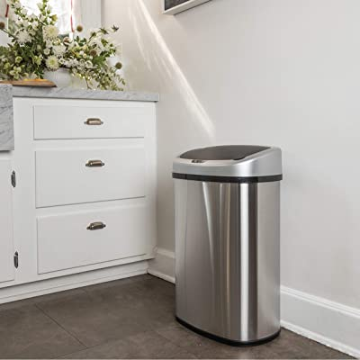 Touch-free-Sensor-Automatic-Stainless-Steel-Trash-Can
