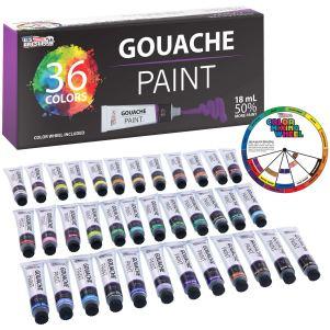U.S. Art Supply Professional 36 Color Set of Gouache Paint
