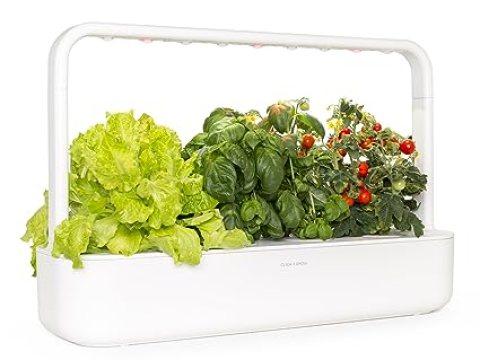 mini indoor garten click and grow smart garden  indoor home garden (includes  mini tomato,   basil and  green lettuce plant pods), white