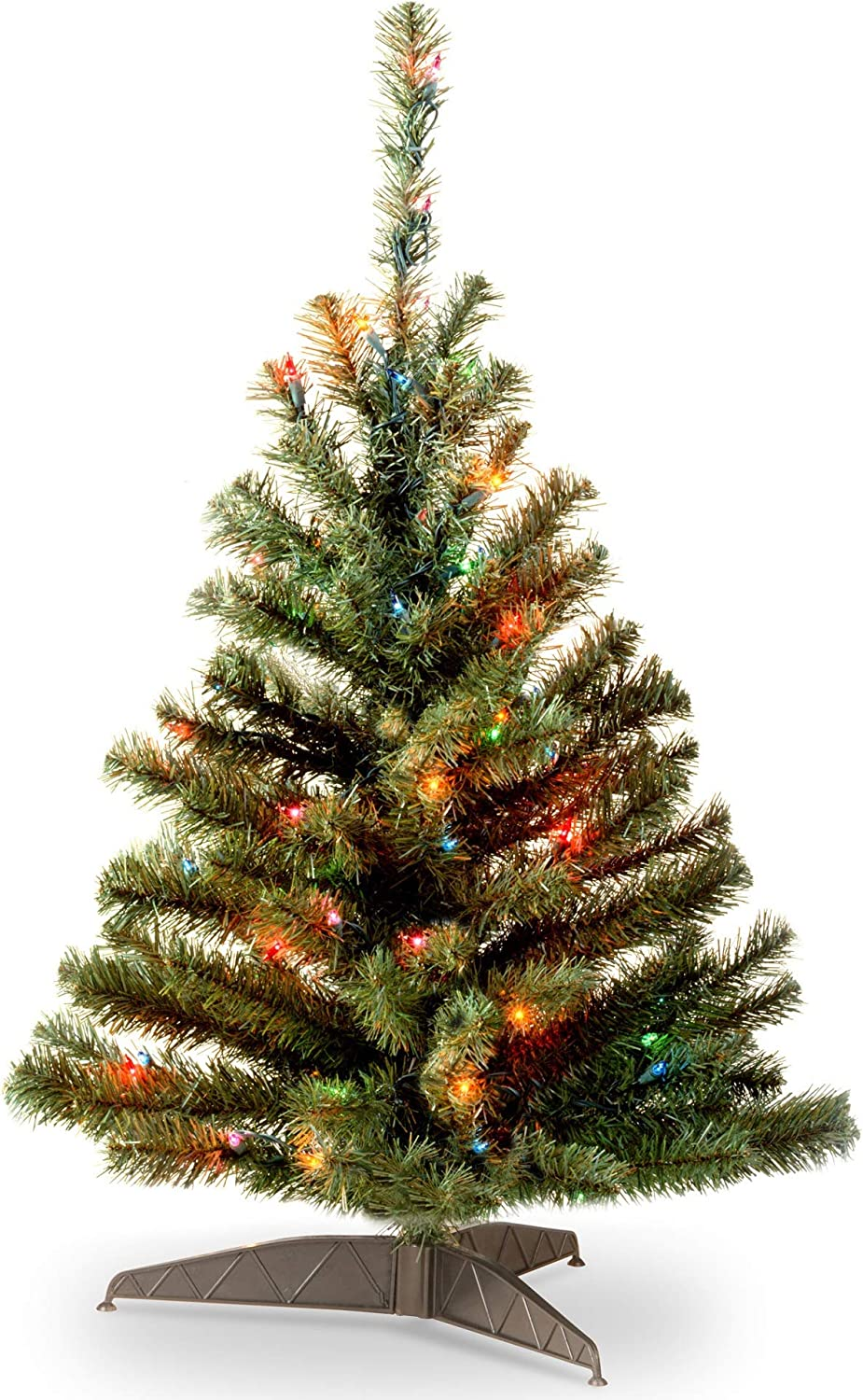 3' Pre-lit Kincaid Spruce Artificial Christmas Tree –Multicolored Lights