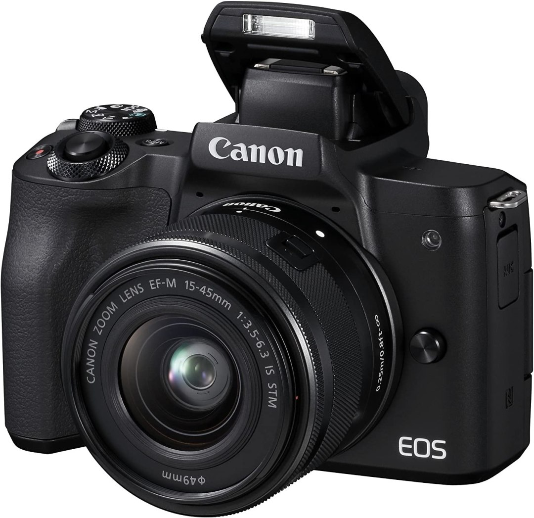 Canon EOS M50 Appareil Photo Hybride + EFM 1545 mm F/3.56.3 STM Noir