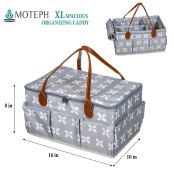 x-large fabric caddy with cover