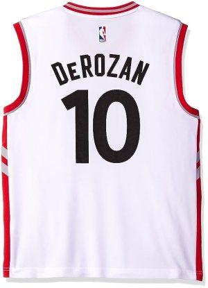 NBA Toronto Raptors DeMar DeRozan #10 Men's Replica Jersey, Medium, White