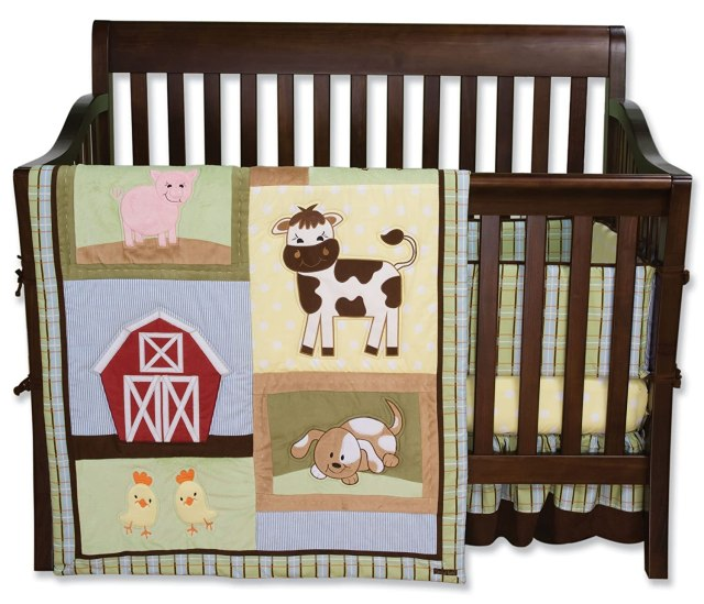 Trend Lab 4 Piece Crib Bedding Set, Baby Barnyard