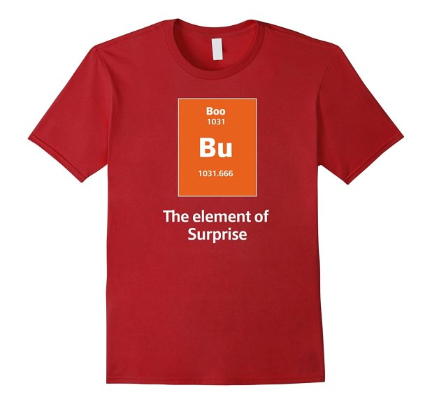 Boo Bu The Element Of Surprise Science Costume Tee Rt