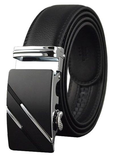Image result for QISHI YUHUA Belt Men's Leather Ratchet Belt