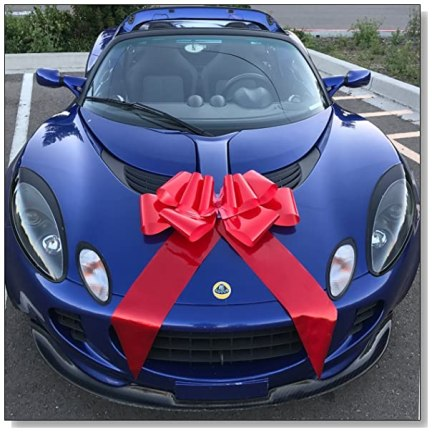 Get A Giant Red Bow For A Car Gift Blue Crystal Sky