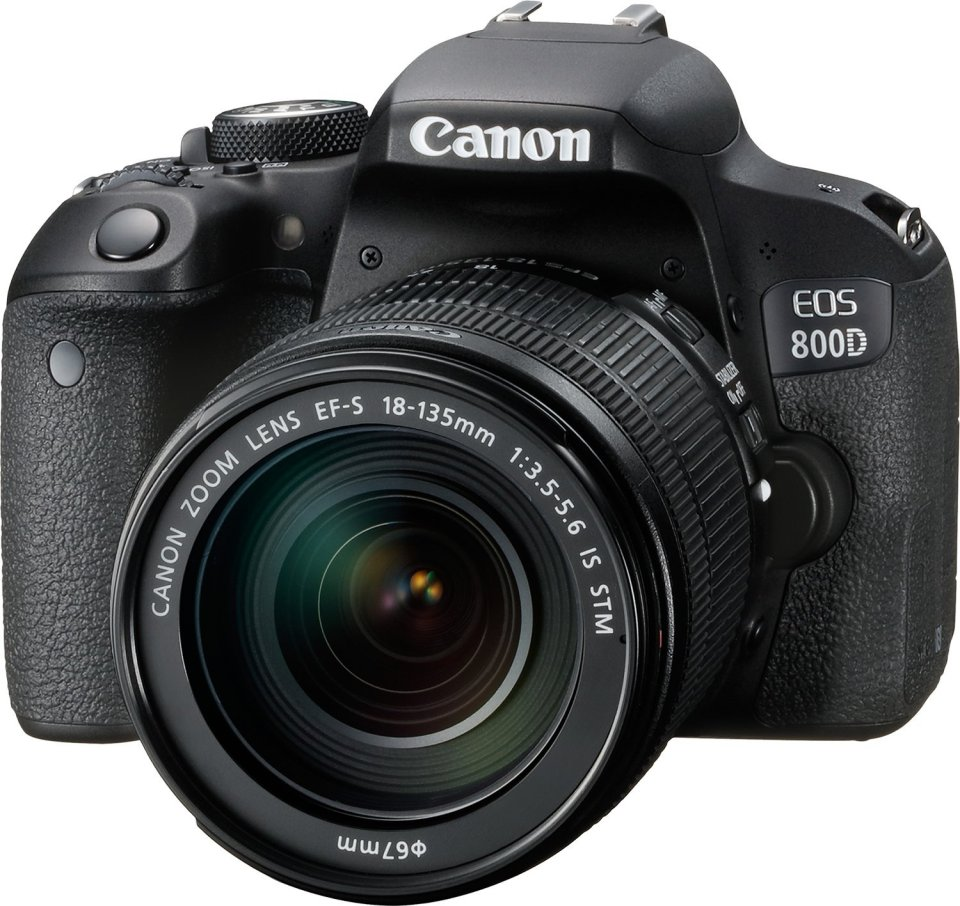 Canon Digital SLR Camera EOS Rebel T7i 24.2 Mp with Lens, 18 mm-135 mm / 800D, 3