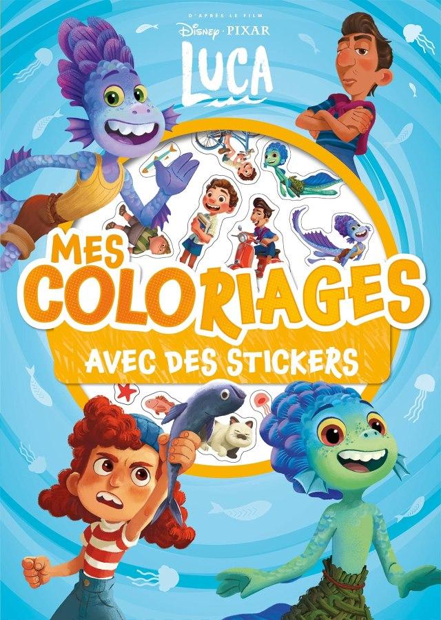 LUCA - Mes Coloriages avec Stickers - Disney Pixar : Disney