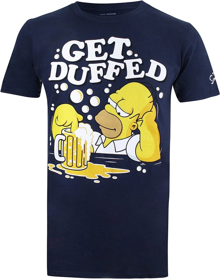 The Simpsons Get Duffed Camiseta para Hombre