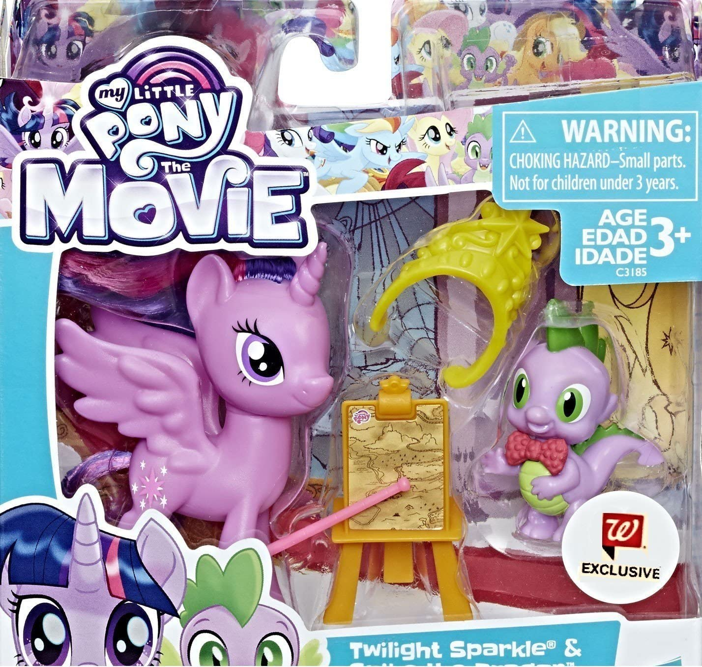 Amazon Com My Little Pony The Movie Twilight Sparkle With Spike The Dragon Exclusive Toys Games
