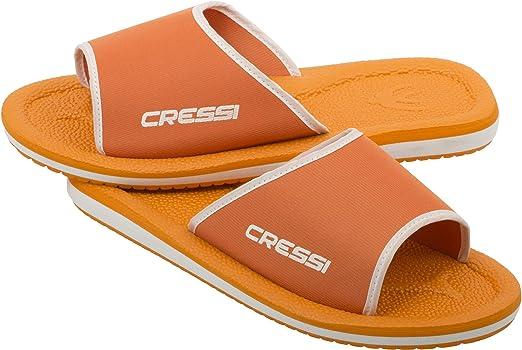 Cressi Swim Lipari Sandals Chanclas para Playa y Piscina, Unisex niños, Naranja/Blanco, 34