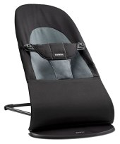 BABYBJORN Bouncer Balance Soft - Black/Dark Gray, Cotton