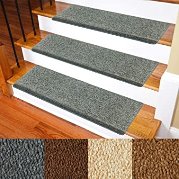 Carpet Stair Treads – Non Slip Bullnose Carpet For Stairs – Indoor | Grey Wood Stair Treads | Coloured | Marble | Low Cost | Gray Color | Porcelain