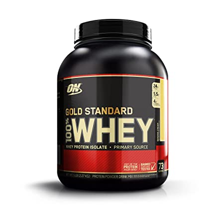 Optimum Nutrition Gold Standard 100% Whey Protein Powder, Banana Cream, 5 Pound