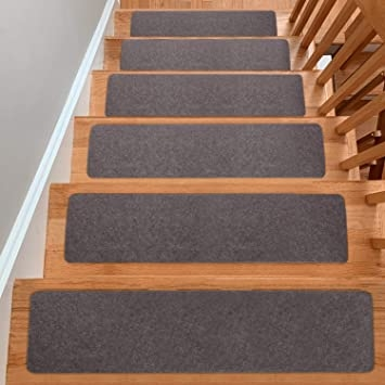 """Yesurprise Stair Treads Carpets Non Slip 8"""" X 30 Set Of 15 Self 