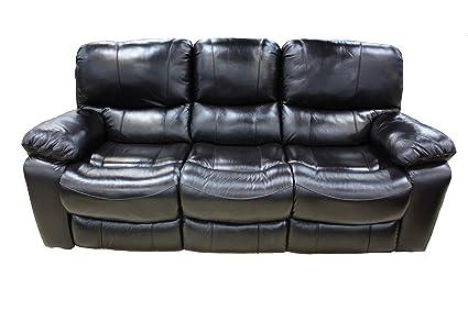 Cherry Leather Reclining Sofa Www Gradschoolfairs Com