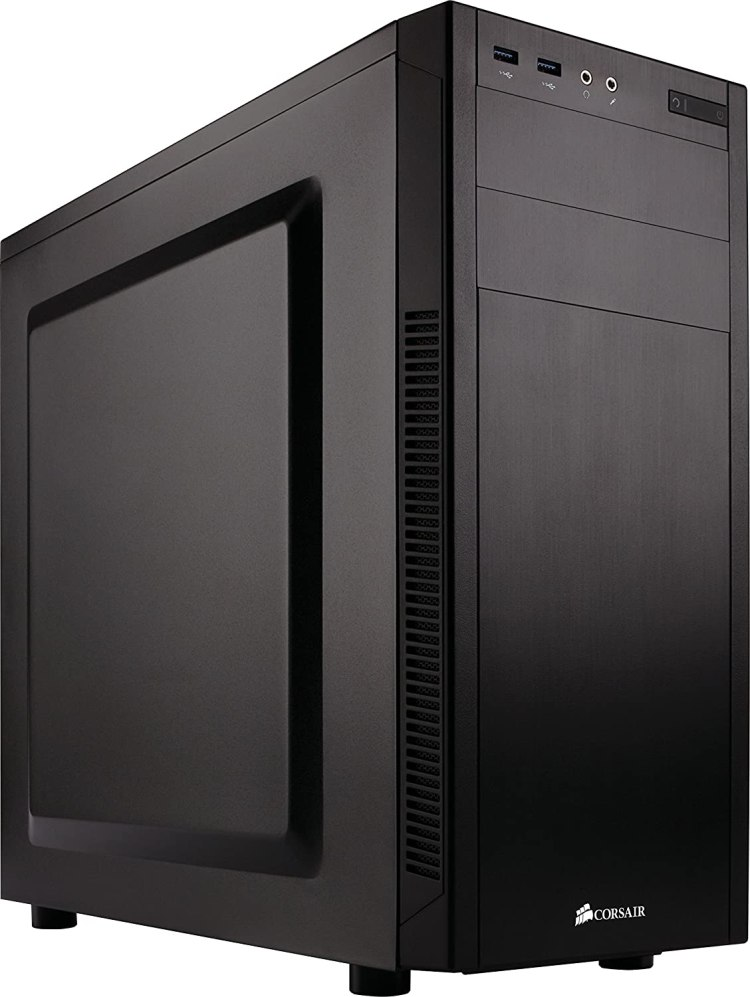 Corsair Carbide Series 100R Silent Edition - Caja de ordenador silenciosa para PC Mid-Tower ATX, negro (CC-9011077-WW)