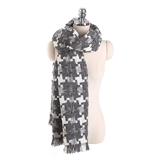 BONJEAN super soft houndstooth blanket scarf, pamper yourself