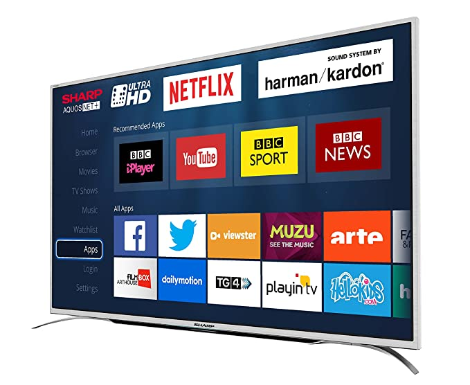 Sharp Lc 55cug8362ks 55 Inch Ultra Hd 4k Led Smart Tv With Freeview Silver Co Uk