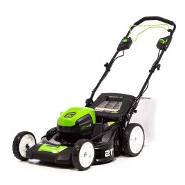 best cordless self-propelled lawn mower - Greenworks