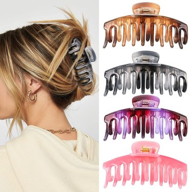 Hair Clips for Women and Girls, 4.3 Inch Nonslip Large Claw Clips, Strong Hold Claw Hair Clips for Thick and Thin Hair, Big Hair Claw Clips for Long Hair Accessories beauty essentials