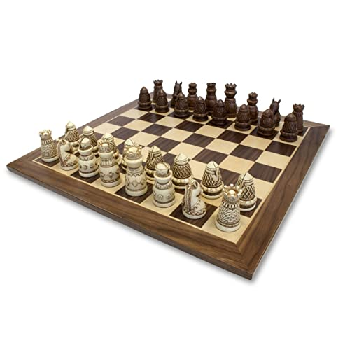 WE Games Fancy Medieval Themed Chess Set