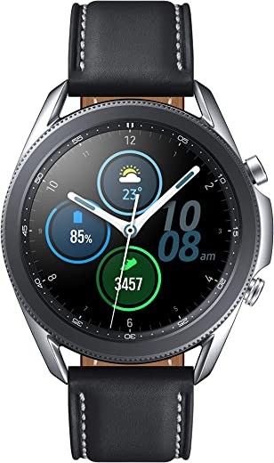 Samsung Galaxy Watch 3 (45mm, GPS, Bluetooth) Smart Watch with Advanced Health monitoring, Fitness Tracking , and Long lasting Battery - Mystic Silver (US Version)