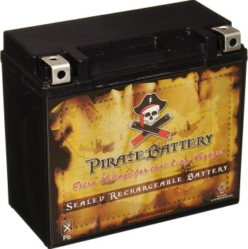 Pirate YTX20L-BS Motorcycle Battery