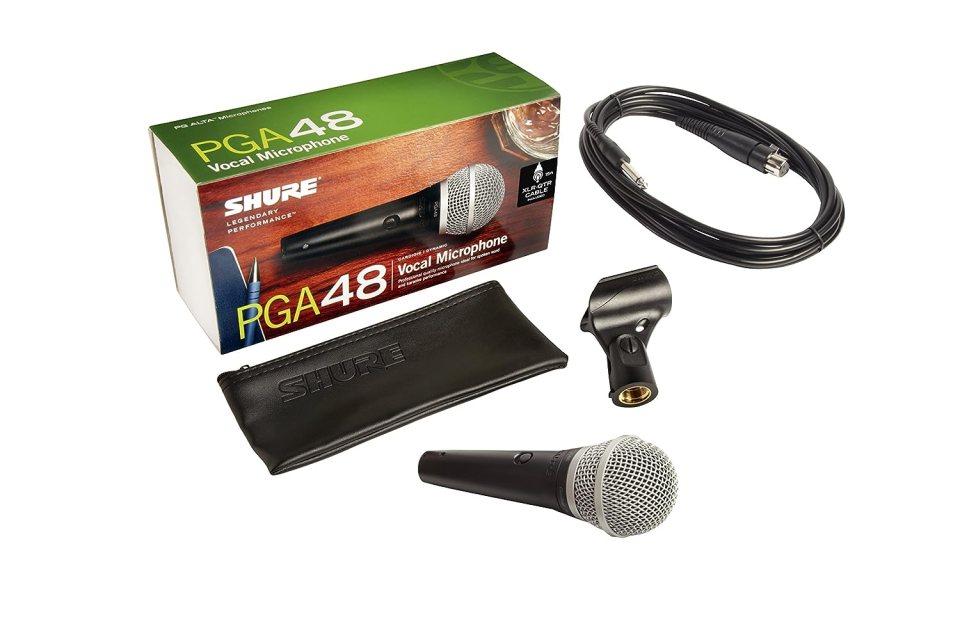 Micrófono para Voces Shure PGA48, Incluye Cable XLR-1/4