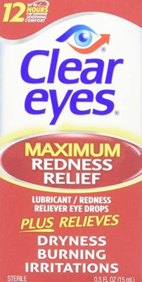 Clear Eyes Maximum Strength Redness Relief - #1 Selling Brand of Eye Drops - Relieves Dryness, Burning, and Irritations - Up to 12 Hours of Soothing Comfort - 0.5 Fl Oz