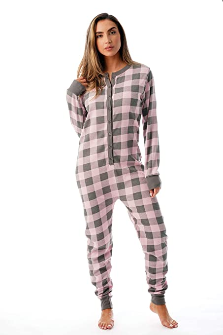 henley thermal onsie