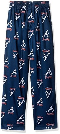 MLB Boys 4-7 Braves Sleepwear All Over Print Pant, L(7), Athletic Navy