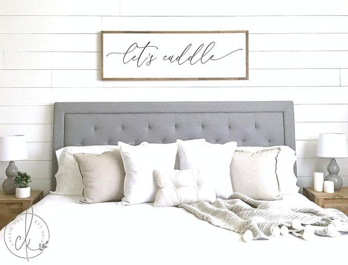 Amazon.com: bawansign Master Bedroom Sign Lets Cuddle Master ...