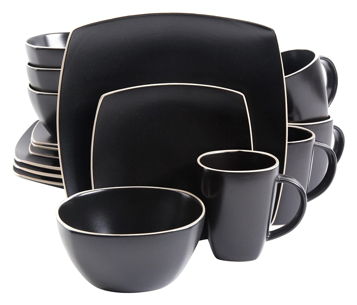 Set de platos color negro para la cocinahttps://amzn.to/2ryNuvE