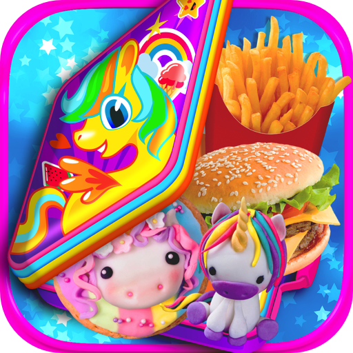 Unicorn School Lunch Maker - Kids Rainbow Lunch & Mealtime Games FREE