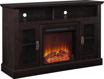 """Altra Furniture Chicago Fireplace TV Stand, 50"""", EspressoBlack Friday Deals"""