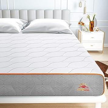 Maxzzz Colchon Viscoelastico Gel 90x190x20CM Colchón de Espuma de Carbón de Bambú Diseño de V...