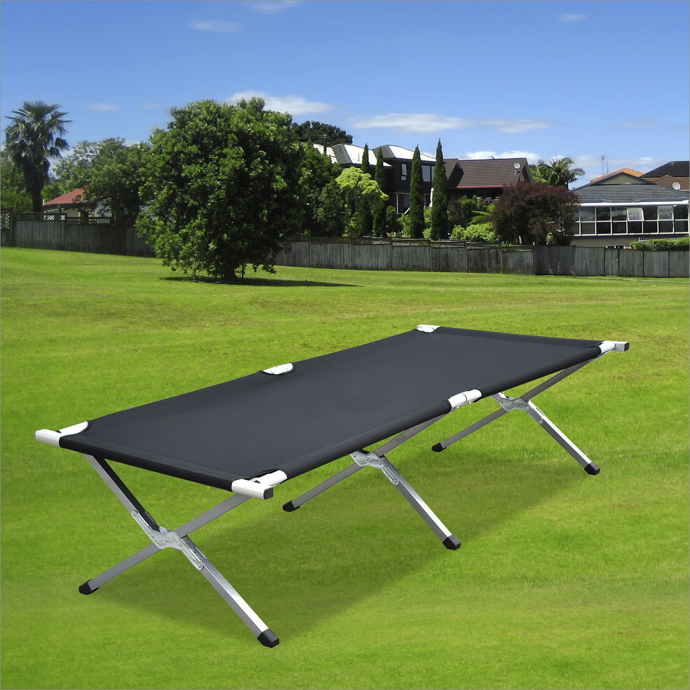 Purenity Folding Military Bed Portable Sport Camping Cot