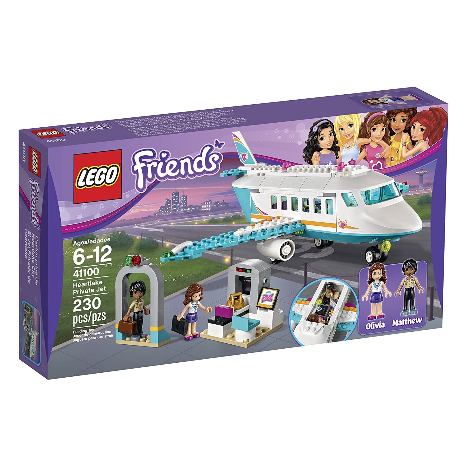 LEGO Friends 41100 Heartlake Private Jet Building Kit