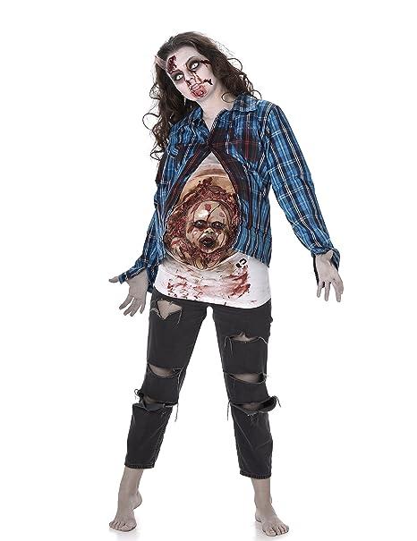 Costume Da Zombie Incinta Con Bebè In Lattice Per Donna