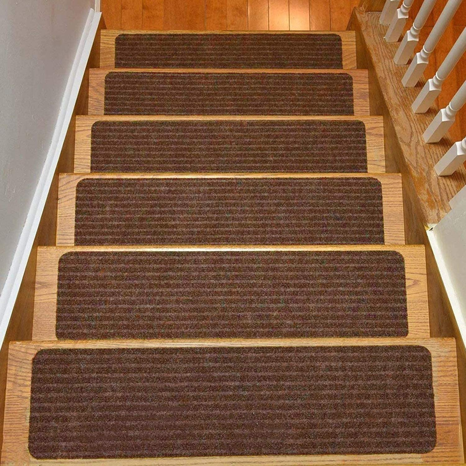 Amazon Com Rugstylesonline Stair Treads Collection Set Of 13 | Carpet Stair Treads For Sale | Bullnose Carpet | Staircase Remodel | Stair Runners | Carpet Runners | True Bullnose
