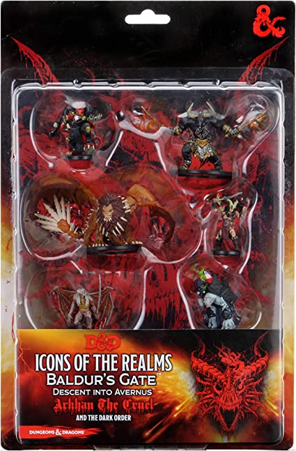 Amazon.com: WizKids D&D Icons of The Realms Figure Pack: Descent ...