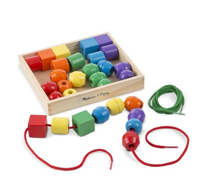 Billes de lassage jouet éducatif en bois pour bébé
