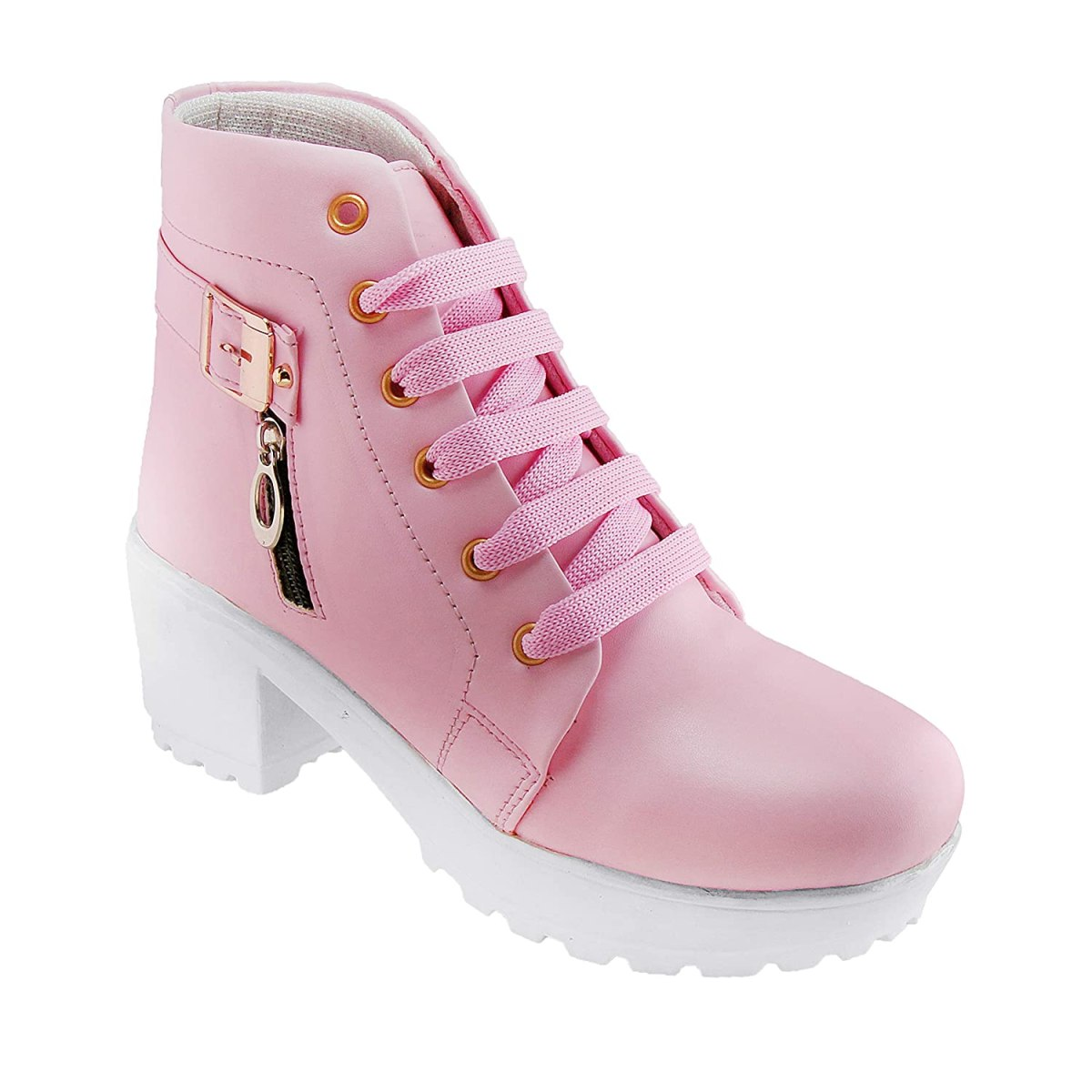 RINDAS Women's | Females | Girls Comfortable, Synthetic Leather, Boots College Casual Boots