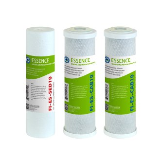 APEC FILTER-SET-ES High Capacity Replacement Pre-Filter Set For ESSENCE Series Reverse Osmosis Water Filter System Stage 1, 2&3